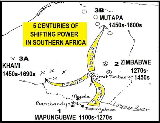 5 CENTURIES OF SHIFTING POWER IN SOUTHERN AFRICA
