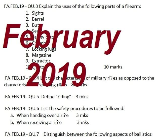 Past Papers: February 2019