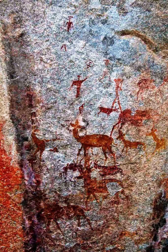 Rock art, asstd antelope