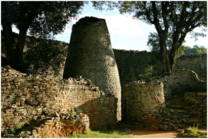 CONICAL TOWER IN GREAT ENCLOSURE
