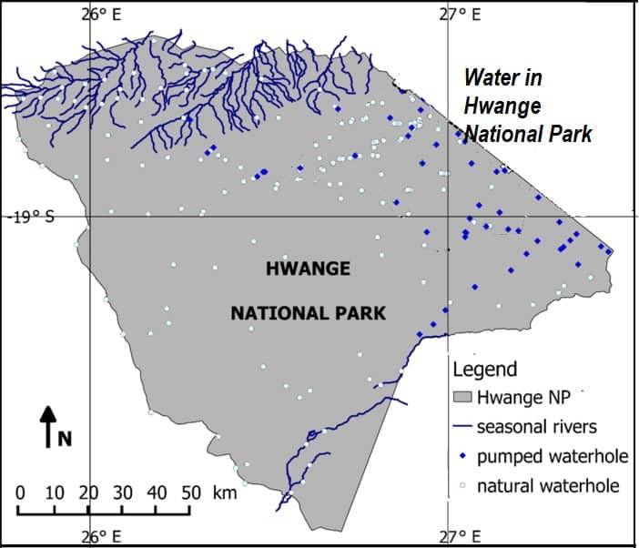 Water in Hwange National Park