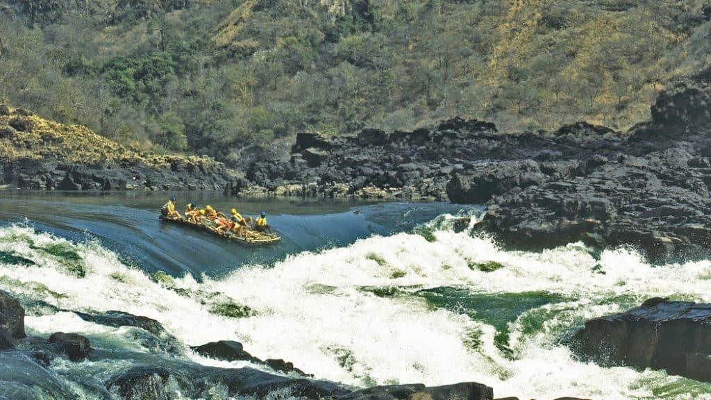 Rafting on Zambezi