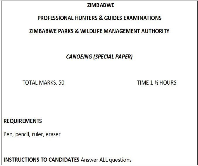 Cover sheet, Canoeing papers