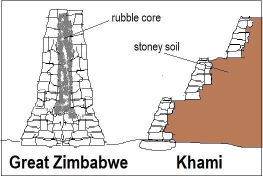 Great Zimbabwe vs Khami building technique