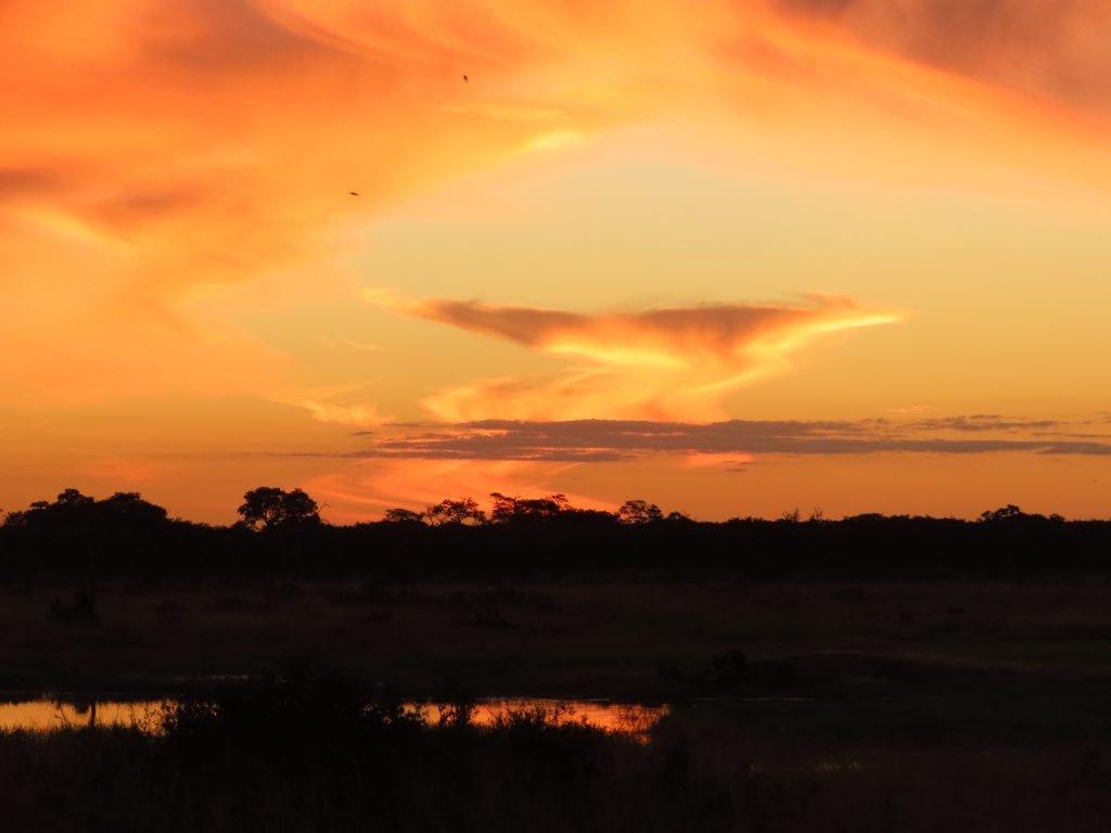 Sunset at Luvenge, Hwange