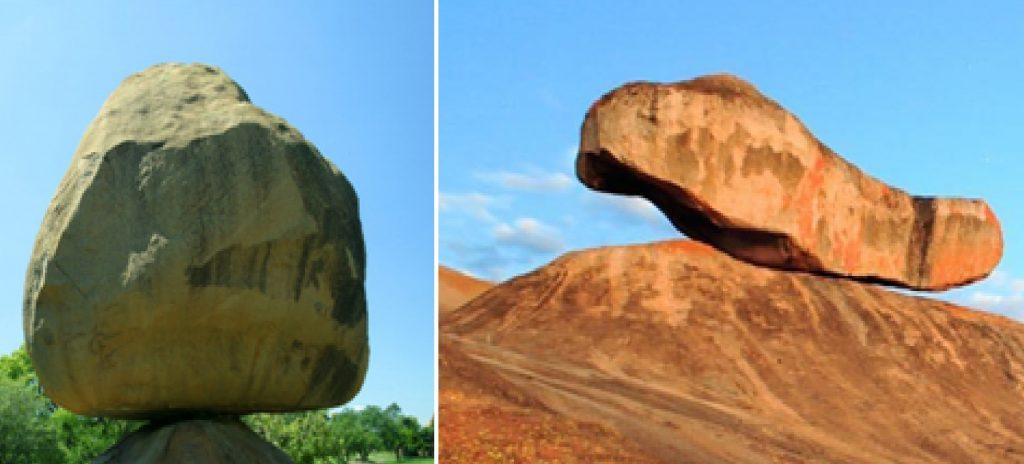 Isolated rocks