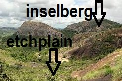 inselberg vs etchplain